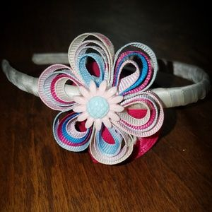 Other - Pink and blue flower shaped hairbow